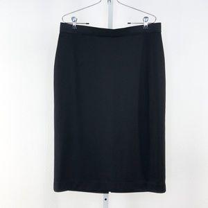 Alfani Black KNit Pencil Midi Skirt Large